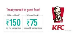 PhonePe Cashback Offer On KFC Outlets
