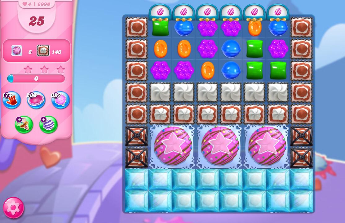 Candy Crush Saga level 6990