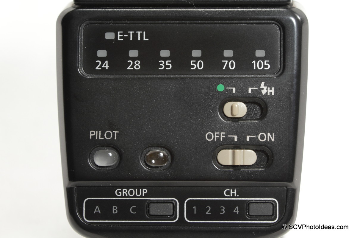 Canon Speedlite 420EX control panel off
