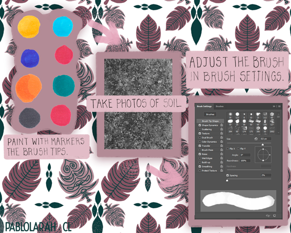 Process for Creating a Brush, free brushes, Organic Markers by Pablo Lara H