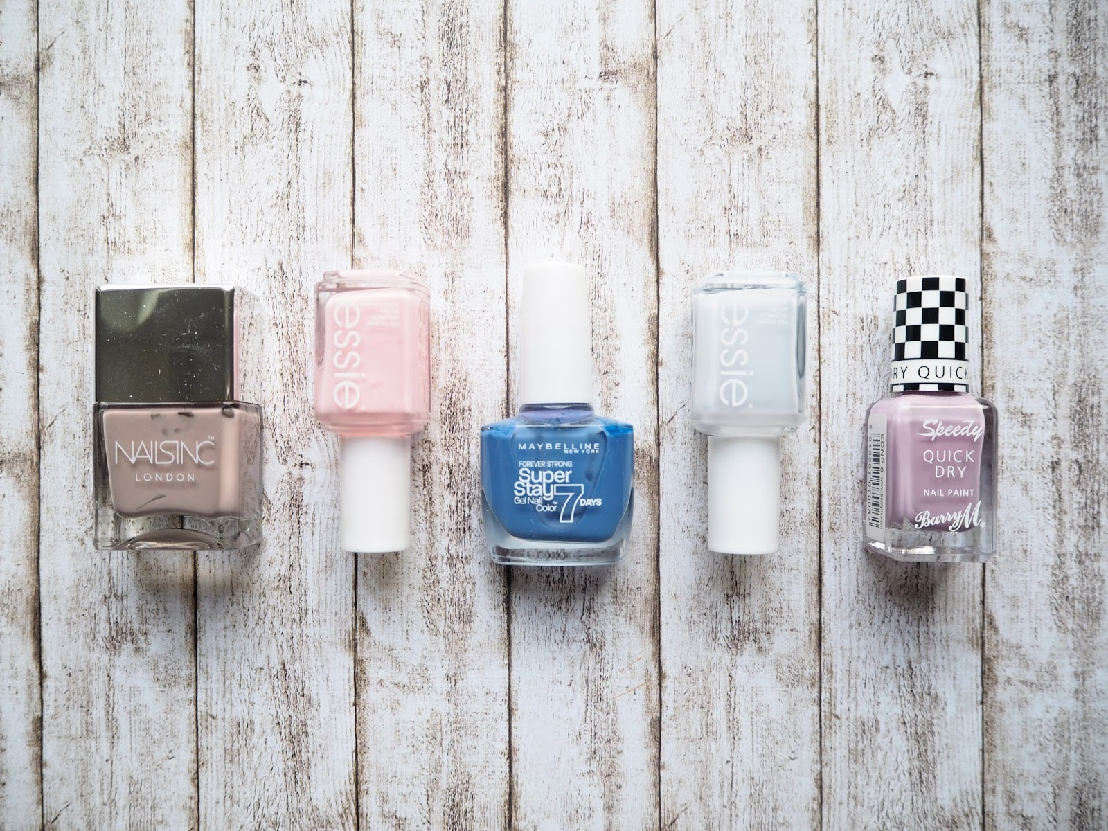 Winter to Spring: Transitional Nail Shades, spring nail polish, essie, nails inc, maybelline, barrry m, romper room, hubby for dessert, surreal, lap of honour, porchester square