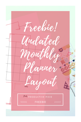 Freebie! Undated Monthly Planner Layout