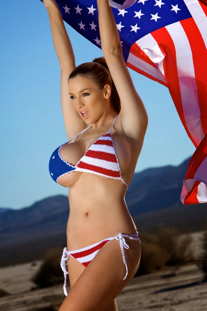 tits patriotic bikini Big