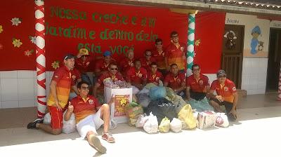 Doações do Natal Solidario AFM em Mairi