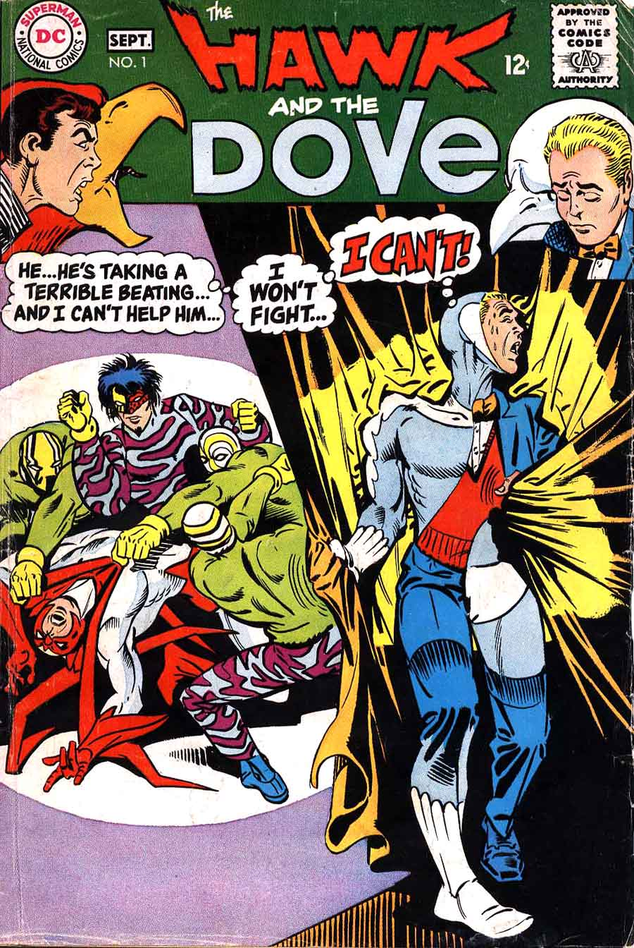 Hawk and the Dove v1 #1 dc silver age 1960s comic book cover art by Steve Ditko