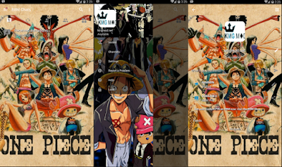 BBM MOD ANIME ONE PIECE v3.0.1.25 Full Features Versi Terbaru Clone / Unclone 2016