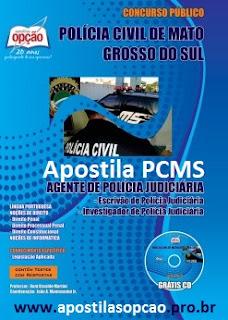 Apostila PCMS - Agente de Polícia (SEJUSP de MS) Policia Civil de MS.