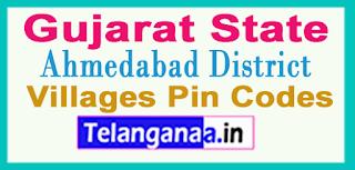Ahmadabad District Pin Codes in Gujarat State