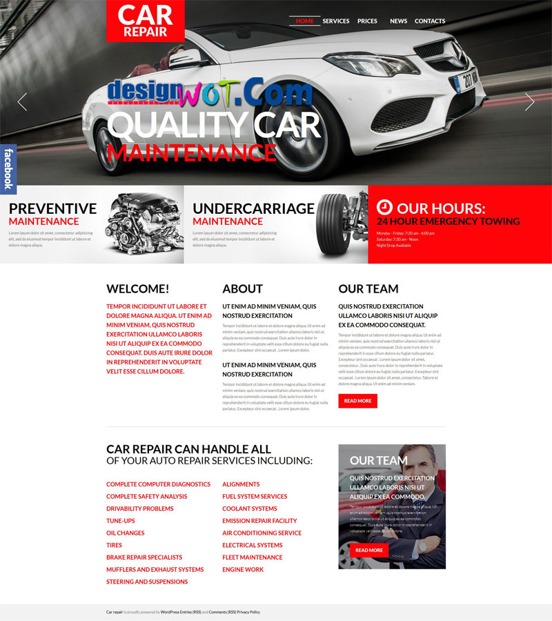 Car Repair Premium WordPress Theme