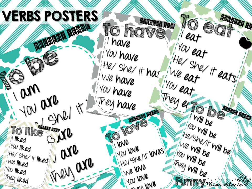 https://www.teacherspayteachers.com/Product/Verbs-Posters-simple-present-simple-past-future-tense-1282478