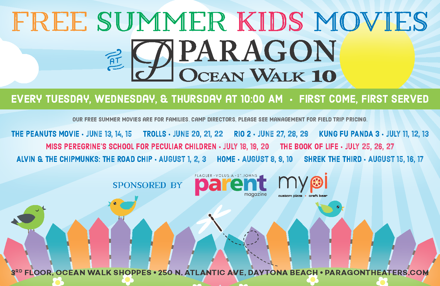 FREE Summer Movies at Paragon Theaters ~ Daytona Beach 2017 ...