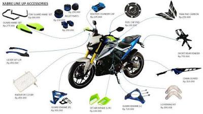 Daftar Aksesoris Asli Yamaha Xabre dari PT YIMM