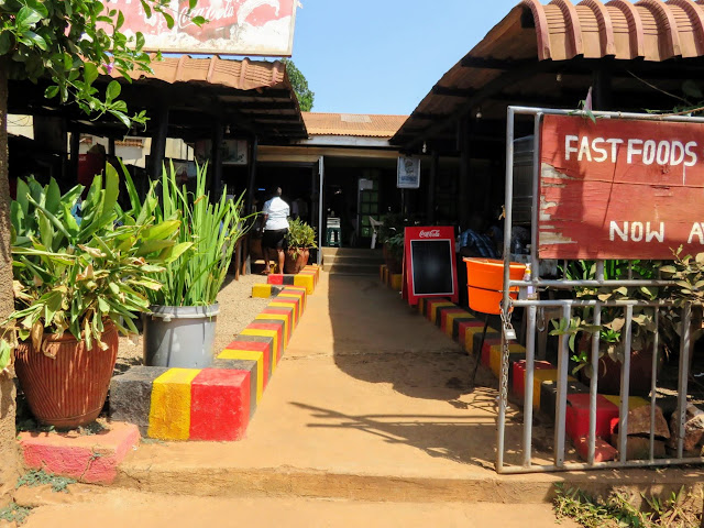 Small restaurant near Entebbe Market in Uganda