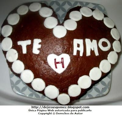 Foto de Torta de chocolate en forma de corazón por Jesus Gómez