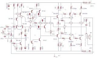 MESERVICE: Schematic Diagram Power Amplifier 450 WATT