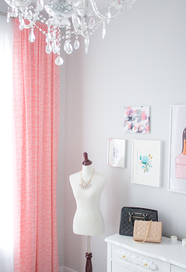 Pretty Little Details Feminine, Pink and White Home Office // French inspired home decor