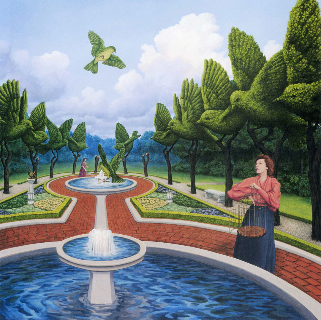 rob gonsalves 1959 surrealist optical illusion painter tutt