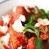 Ensalada de berenjenas asadas y curry de tomate