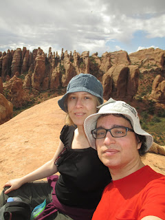 Sarah and Nigel, Arches National Park