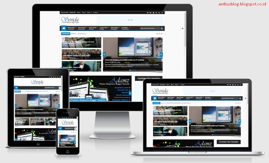 Free Download Sevida 2.5 Template Blogger