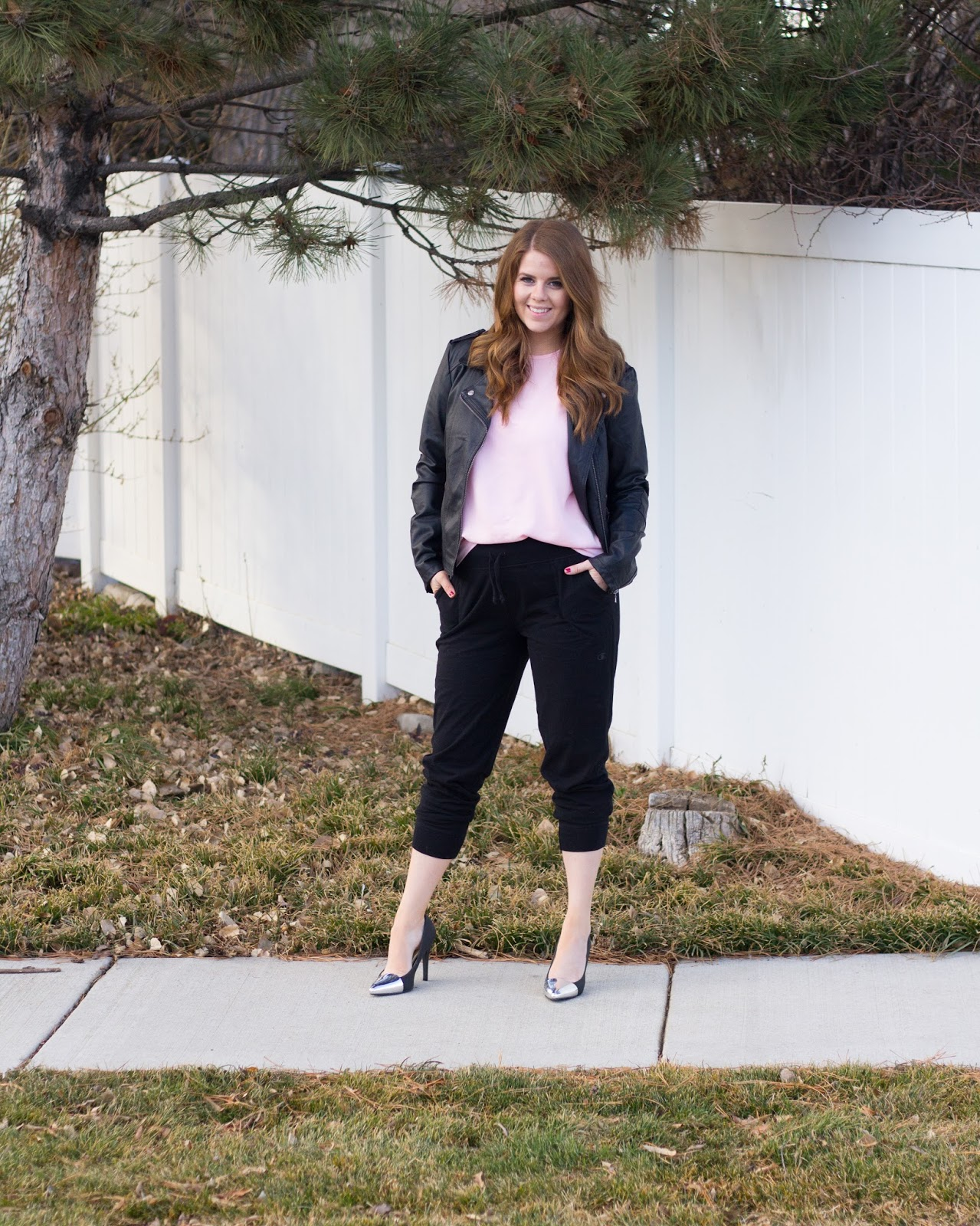 loungewear to datewear: joggers and a tee