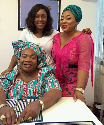 Actress Lota chukwu aka kiki posed with Iya awero and AYO adesanya