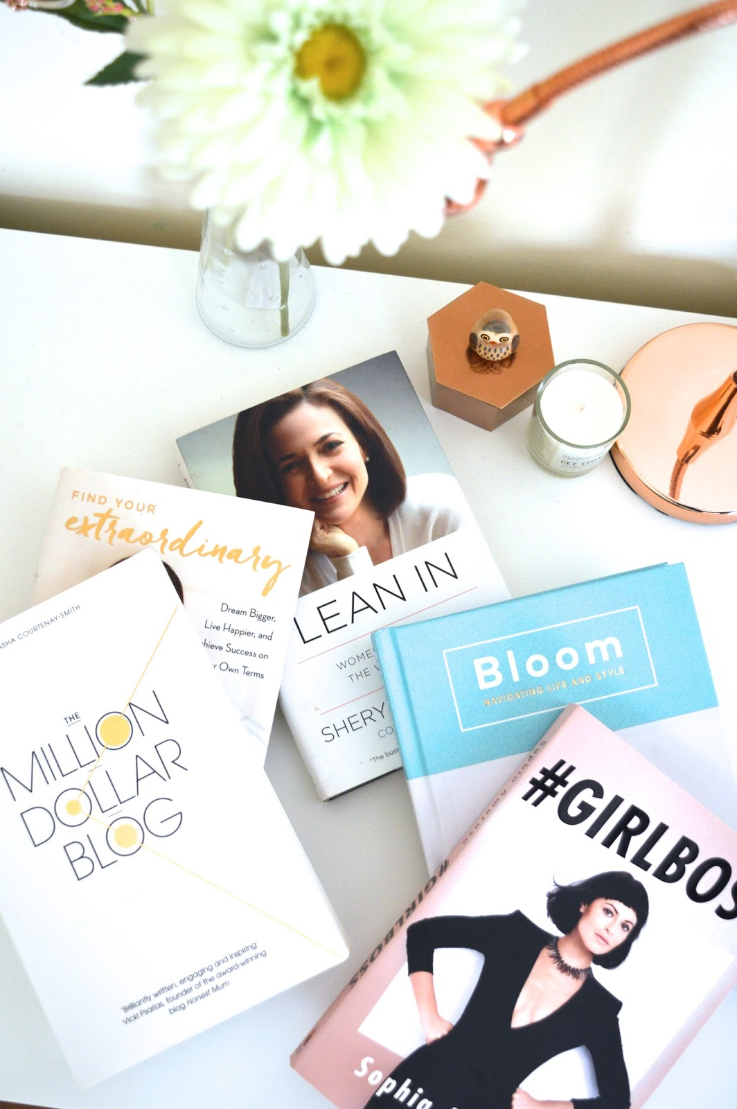 Motivational books for girl bosses, lifestyle blog, Dalry Rose blog