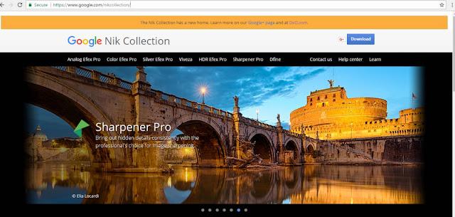 Website Nik Collection di Google Masih Bisa di akses, tapi tidak bisa download