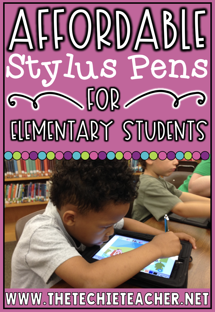 Affordable Stylus Pens for Elementary Students. There are lots of inexpensive options for kids! Use on iPads, tablets and even computer/Chromebook trackpads!