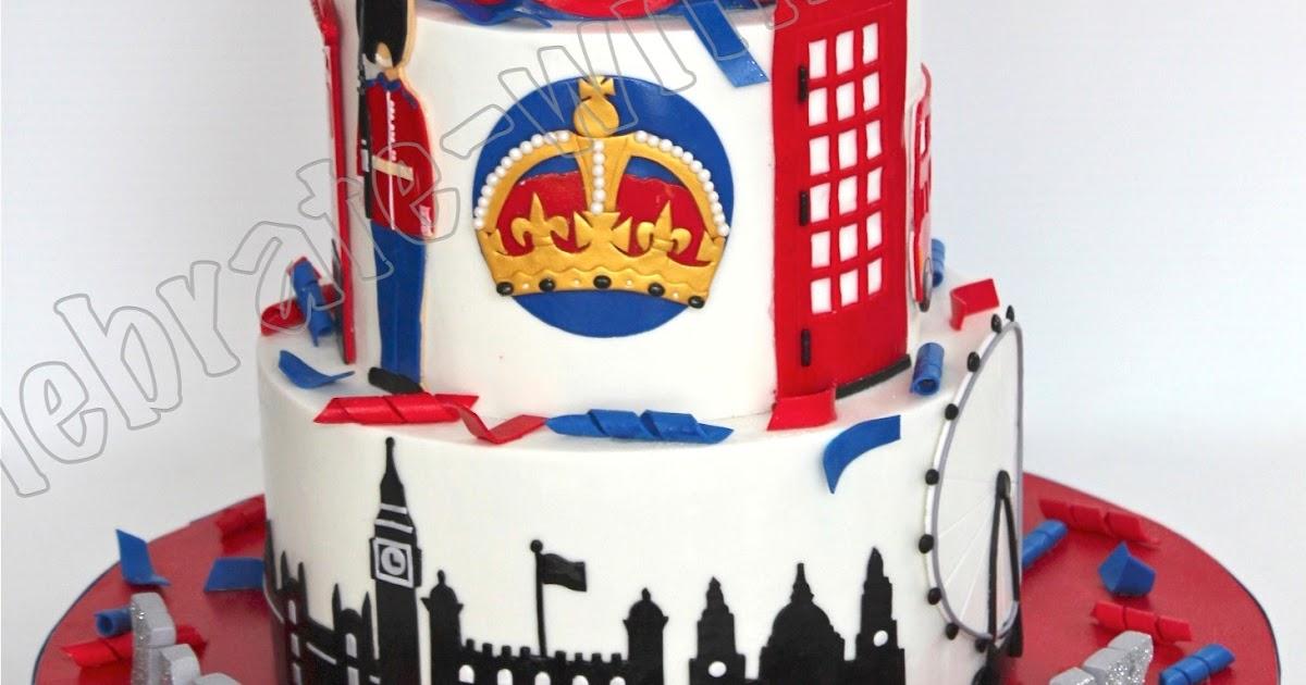Celebrate With Cake Union Jack London Themed Tier Cake