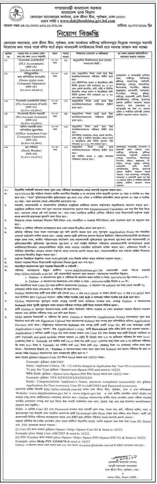 Post Office Job Circular 2019 IMage