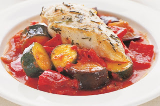 Rosemary Chicken with Ratatouille | Healthy Chicken Rosemary with Ratatouille Recipe