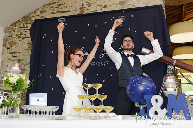 photo joie, fête, célébration, vive les mariés