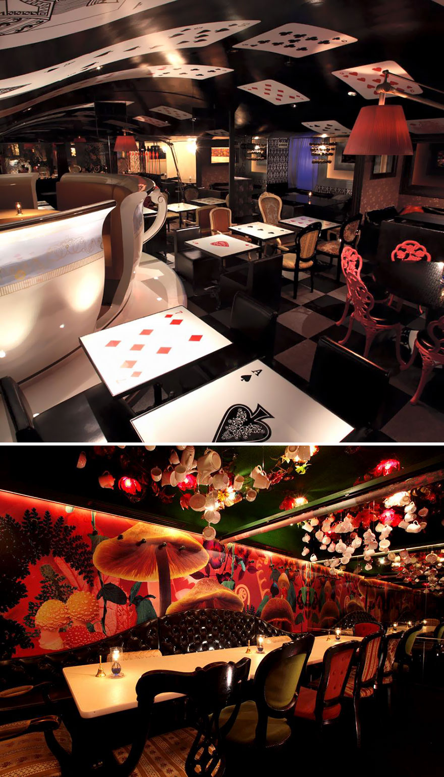 35 Of The World's Most Amazing Restaurants To Eat In Before You Die - Dine In A Magical Alice World, Alice In A Labyrinth, Tokyo, Japan