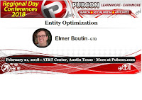 Pubcon Session: Entity Optimization with Elmer Boutin