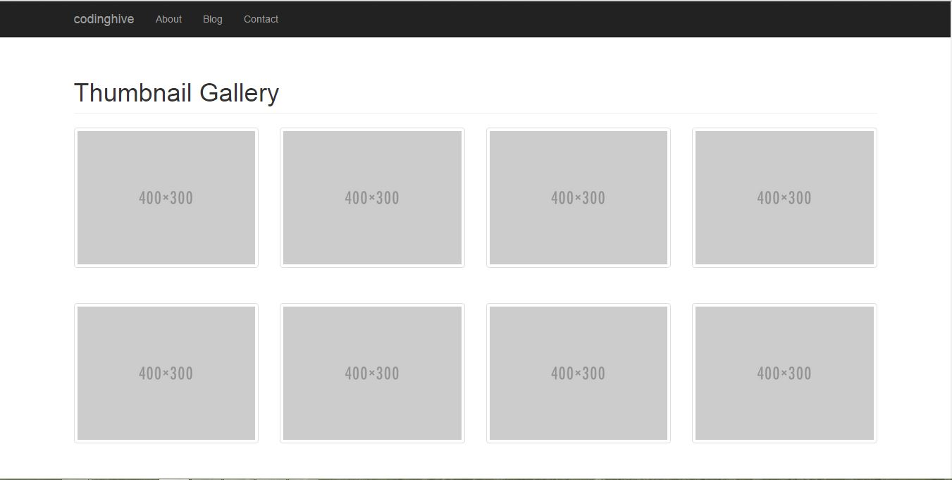 Bootstrap Gallery Page tutorial ~ CodingHive