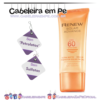 Protetor Solar Anti-Idade Renew Solar Advance Ultra Matte SEM COR FPS 60 - Avon (Sem Petrolatos)
