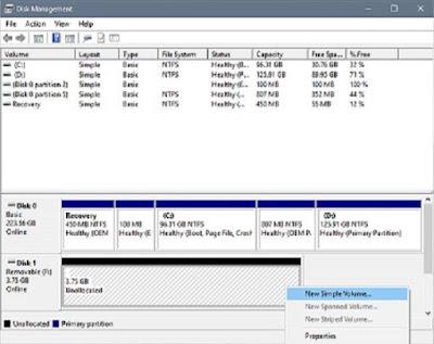 Cara mengatasi Please insert a disk into new volume di windows 10-gambar 1