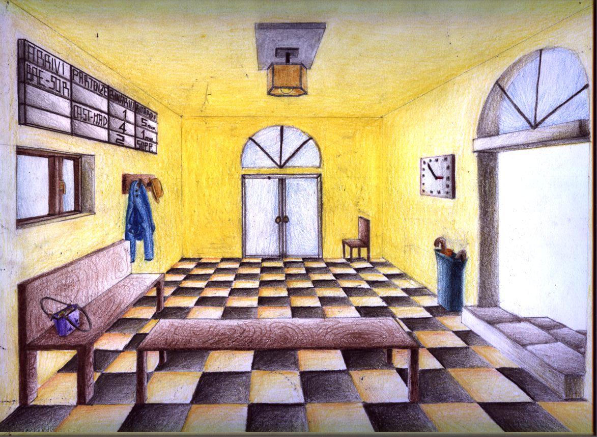 Piccole variazioni sul tema della prospettiva centrale for Disegnare piantina stanza