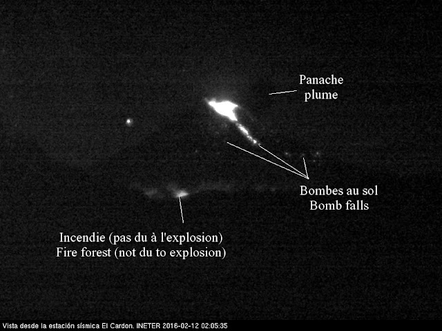 Explosion sur le volcan Momotombo, 12 février 2016
