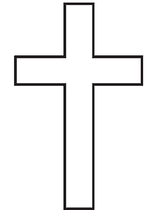 Cruz para bautizo para colorear - Imagui