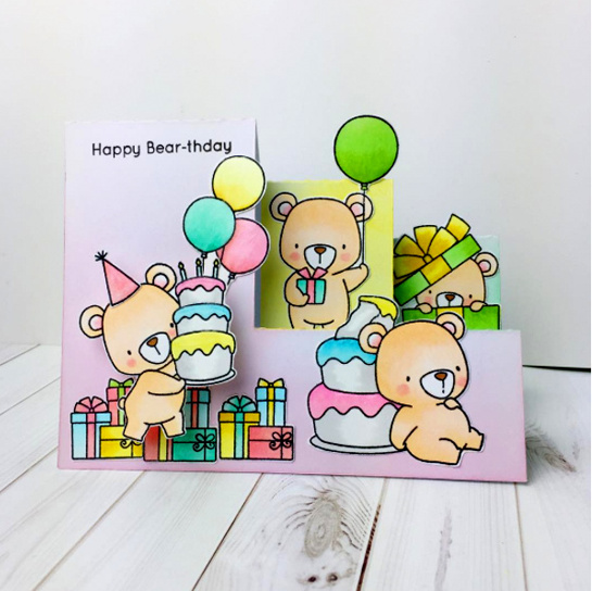Birdie Brown Beary Special Birthday stamp set and Die-namics - Yun Marks #mftstamps