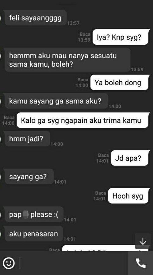Chat Manis sang lelaki untuk merayu sang perempuan - part 1
