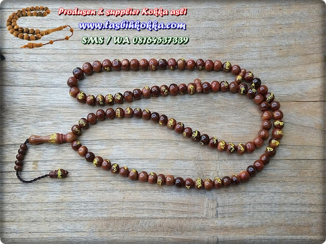 Tasbih Asmaul Husna Ukir Kuning
