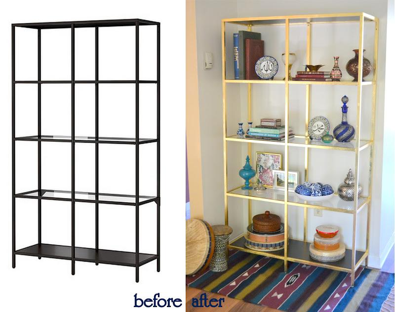 honey sweet home diy brass etagere gold leafed ikea vittsjo hack. Black Bedroom Furniture Sets. Home Design Ideas