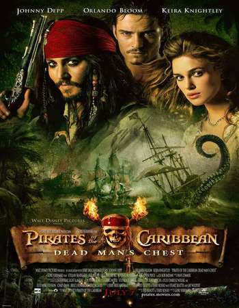 Poster Of Pirates of the Caribbean Dead Man's Chest 2006 Dual Audio 700MB BRRip 720p ESubs HEVC Free Download Watch Online downloadhub.in