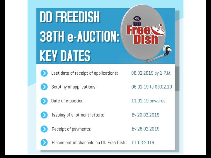 Good news for dd free dish users, Prasar bharati invites