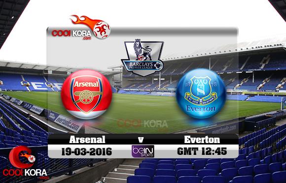 مشاهدة مباراة إيفرتون وآرسنال اليوم 19-3-2016 في الدوري الإنجليزي