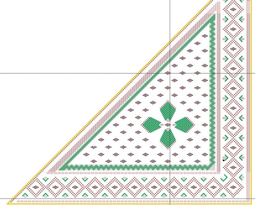 схемы вязания ажурных платков спицами