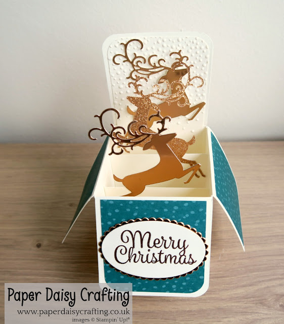 Dashing Deer Pop up card in a box from Stampin' Up!